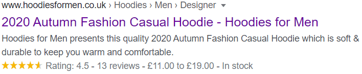 Hoodies for Men with Rich Snippets