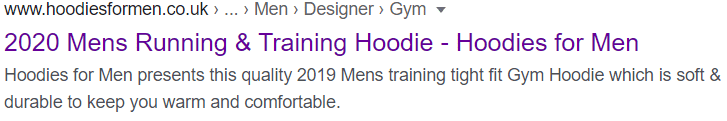 Hoodies for Men without Rich Snippets